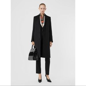 NEW Burberry Wool Cashmere Tailored Coat Black